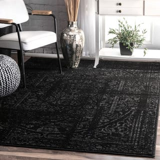 nuLOOM Vintage Distressed Ring Black Rug (4' x 6')|https://ak1.ostkcdn.com/images/products/14356195/P20931960.jpg?impolicy=medium