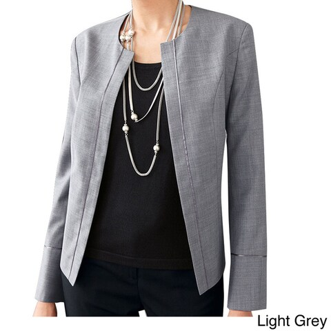 Affinity Apparel Women's Wool-blend Chanel-inspired Blazer