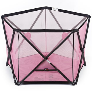 Dream On Me Pink Olivia Pink Plastic Ready-to-go Playard