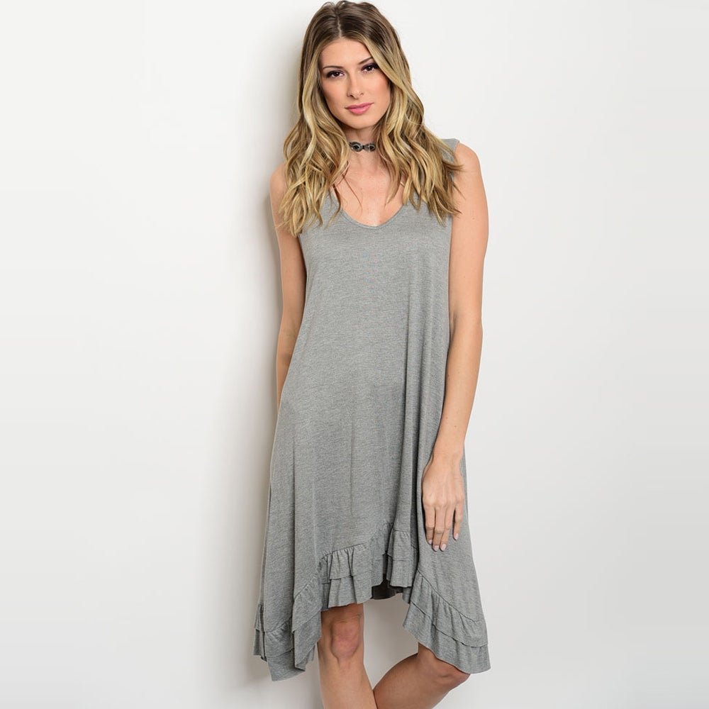 Shop The Trends Women's Sleeveless Jersey Knit Tunic Dres...