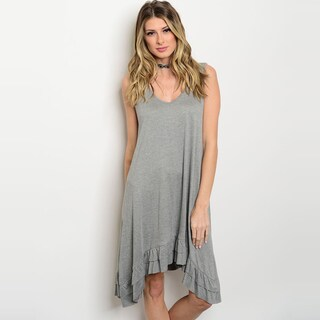 Shop The Trends Women's Sleeveless Jersey Knit Tunic Dress With Scoop Neckline