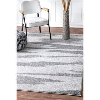 nuLOOM Contermporary Ombre Stripes Grey Rug (7'6 x 9'6)