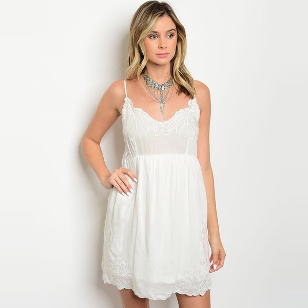 Shop Shop The Trends Womens Spaghetti Strap Babydoll Dress With