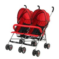 Dream on Me Red Twin Stroller