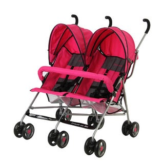 Dream on Me Pink Twin Stroller