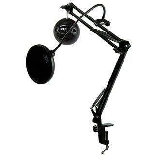 Blue Microphones Snowball ICE Black Mic w Knox Mic Desktop Boom Arm & Pop Filter (Black)