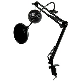 Blue Microphones Snowball ICE Black Mic w Knox Mic Desktop Boom Arm & Pop Filter (Black)