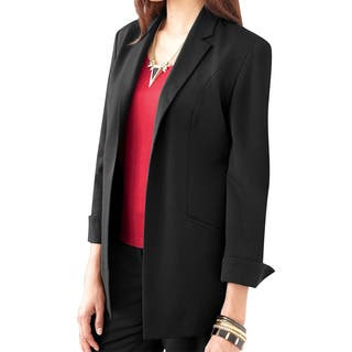 Affinity Apparel Ladies' Cardigan Blazer|https://ak1.ostkcdn.com/images/products/14356240/P20931993.jpg?impolicy=medium