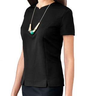 Affinity Apparel Women's Tailored Blouse (Option: Black)|https://ak1.ostkcdn.com/images/products/14356241/P20931994.jpg?impolicy=medium