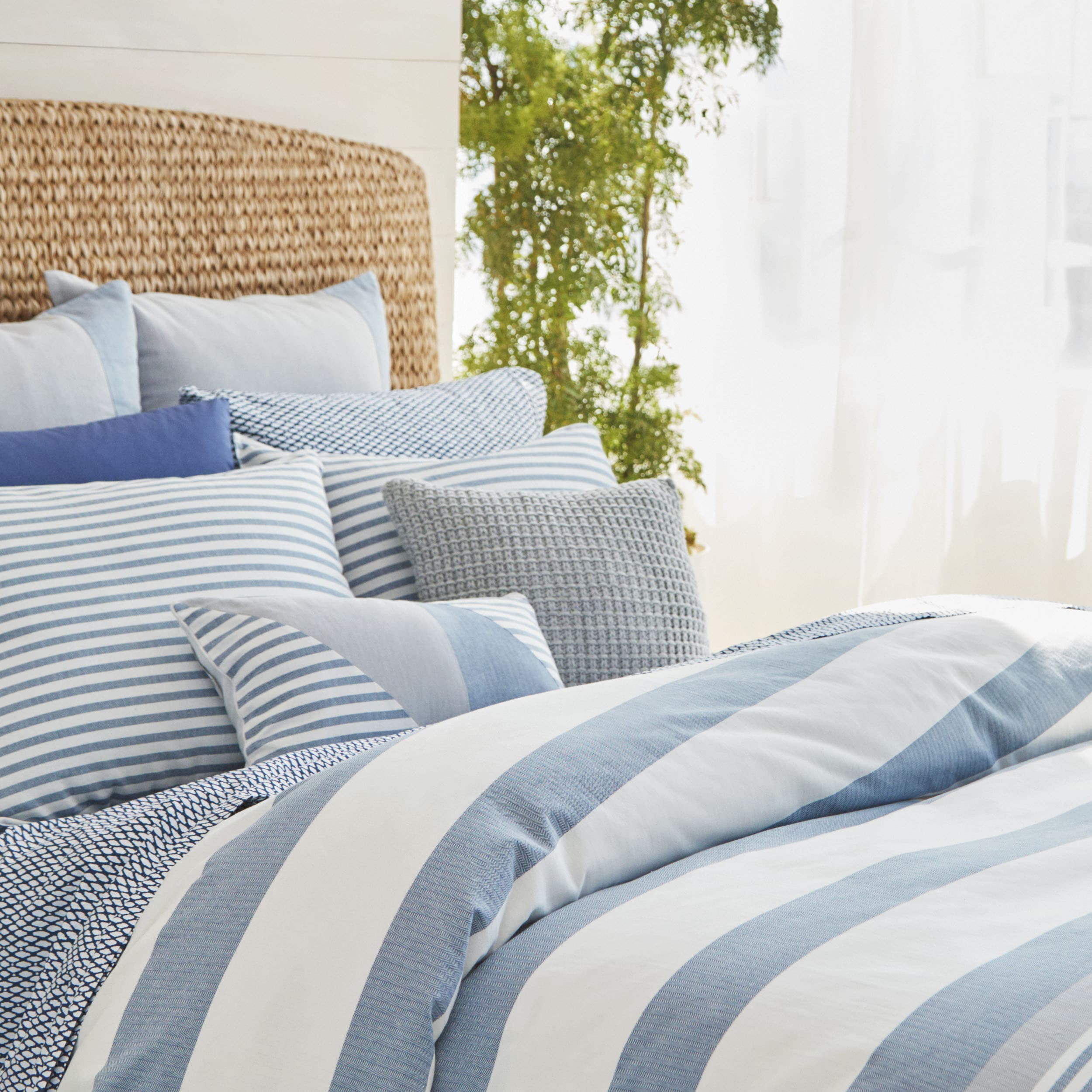 Nautica Fairwater Navy And White Nautical Comforter Set Ebay