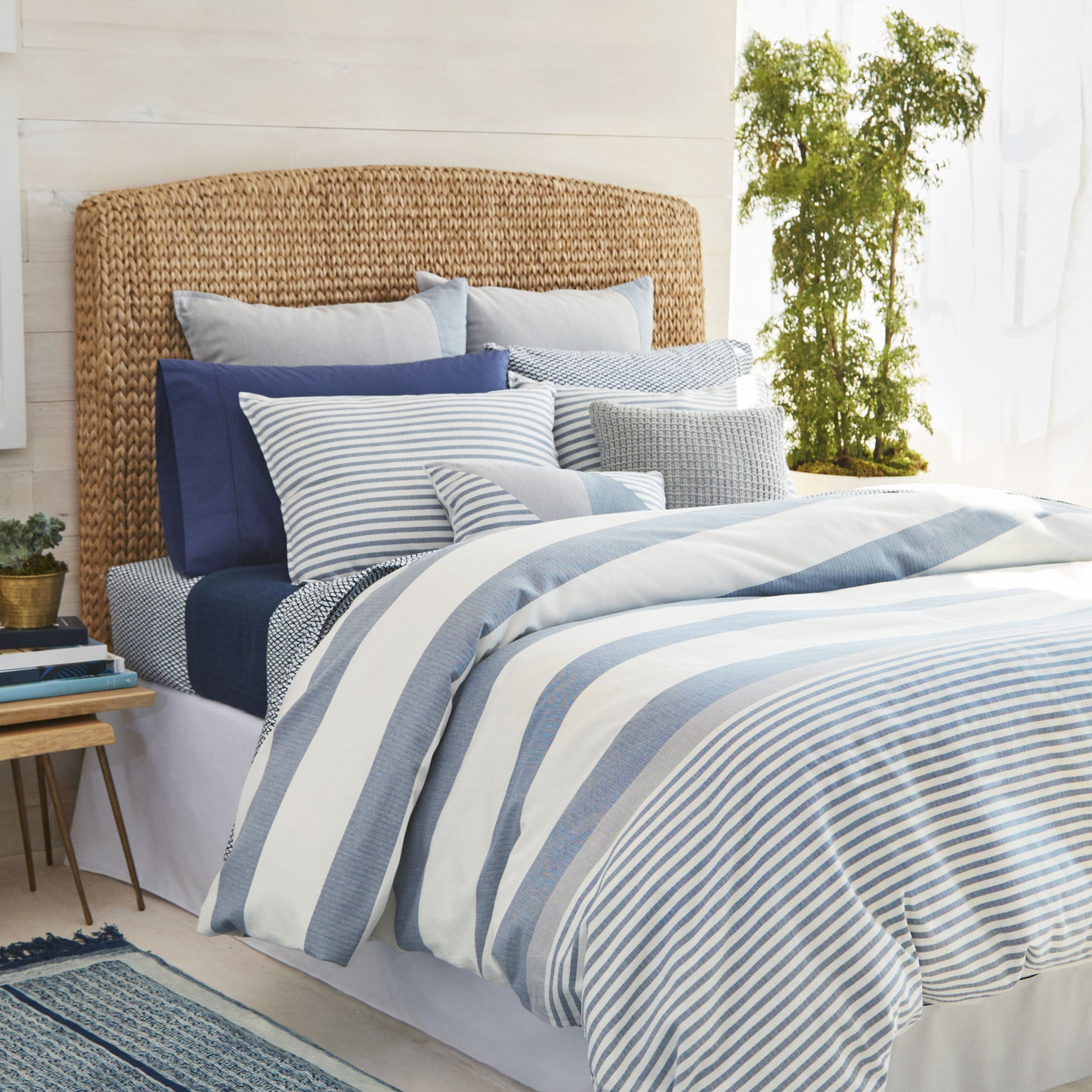 Nautica Fairwater Navy And White Nautical Striped Comforter Set On Sale Overstock 14356257