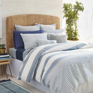 Nautica Fairwater Navy and White Nautical Striped Comforter Set
