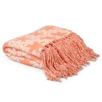 Journee Home Printed Fringed Throw Blanket