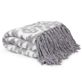 Journee Home Printed Fringed Throw Blanket