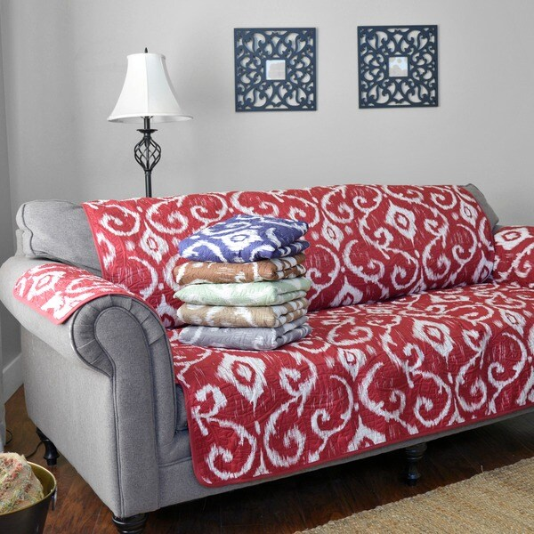 Shop Journee Home \'Mia\' Reversible Printed Sofa Protector - On Sale ...