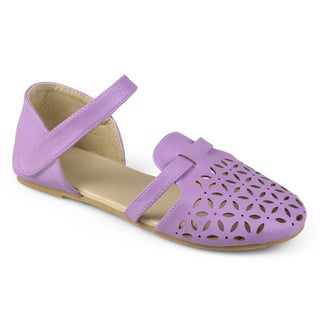 Journee Kid's Girl 'Maeva' Laser Cut Closed-toe Flats (More options available)