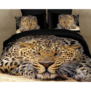 Dolce Mela Safari Themed Luxury 6 Piece Duvet Cover Set