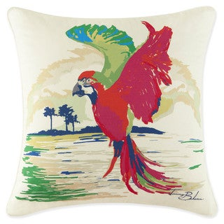 Tommy Bahama Multicolor Cotton Parrot Decorative Throw Pillow