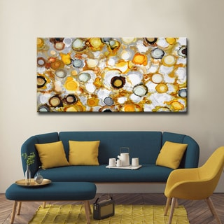 Sundrops' by Norman Wyatt, Jr. Abstract Wrapped Canvas Wall Art