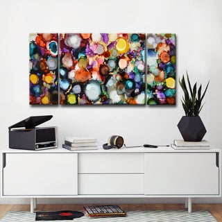 Festive Jewels' by Norman Wyatt, Jr. Abstract Wrapped Canvas Wall Art