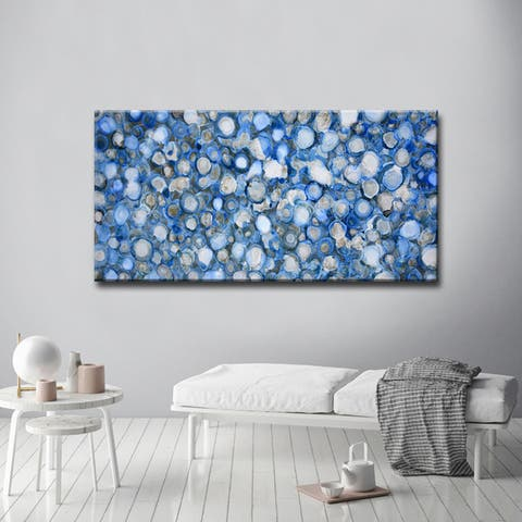 Arctic River Stones' by Norman Wyatt, Jr. Abstract Wrapped Canvas Wall Art