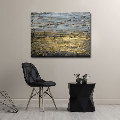 Egyptian Shores' by Norman Wyatt, Jr. Abstract Wrapped Canvas Wall Art