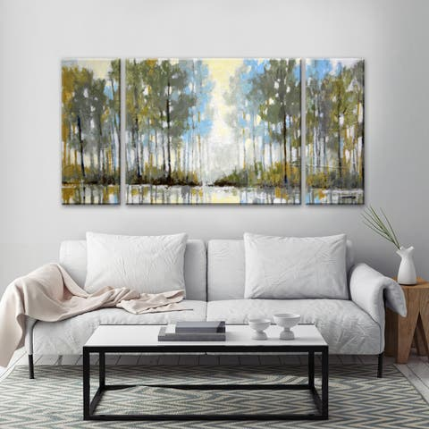 Lakeside View III' by Norman Wyatt, Jr. Scenic Wrapped Canvas Wall Art