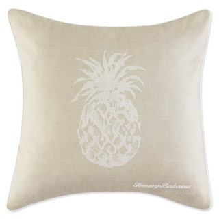 Tommy Bahama Pineapple Tan Cotton 20-inch Decorative Pillow