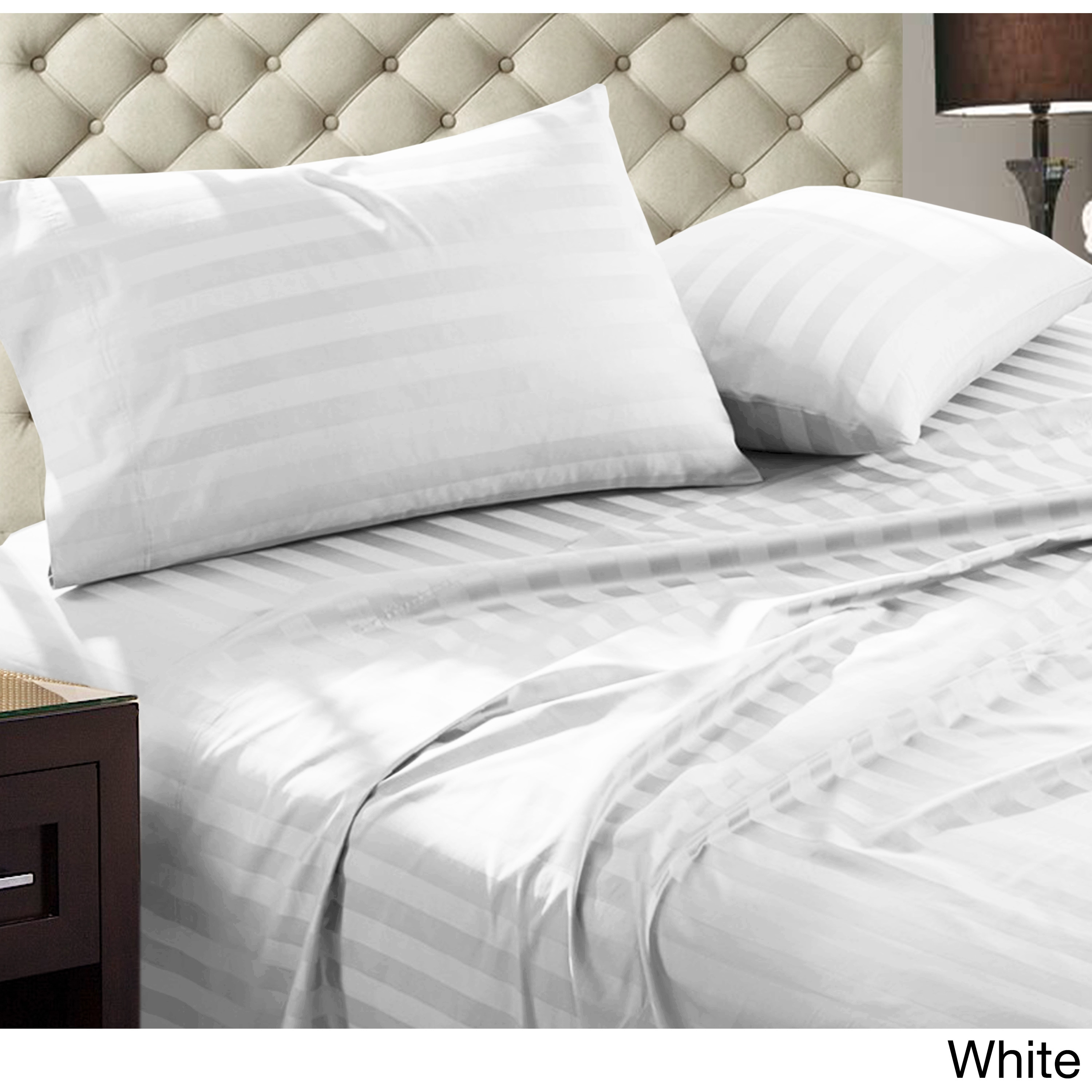 New Bedding Collection 1000TC Egyptian Cotton All Size Strip Pattern Select Item