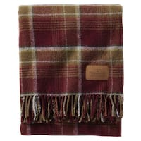 Pendleton Motor Robe Rogue Valley Wool Throw with Leather Carrier