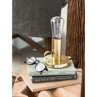 Aurelle Home Barron Table Lamp Brass