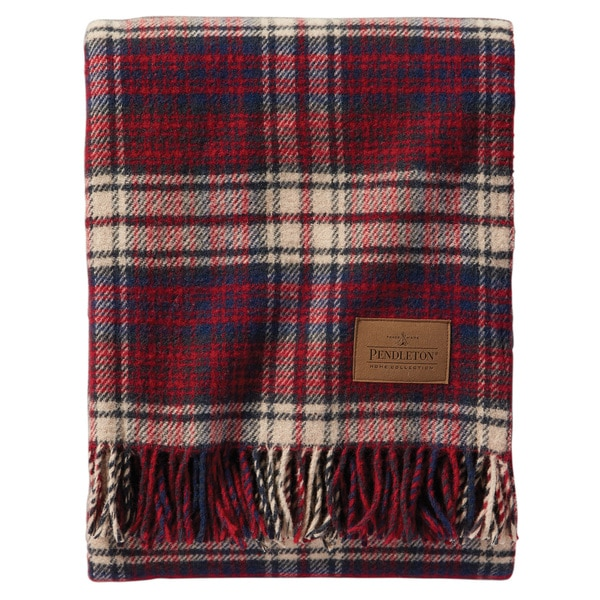 Pendleton Motor Robe Pittock Wool Throw with Leather Carrier
