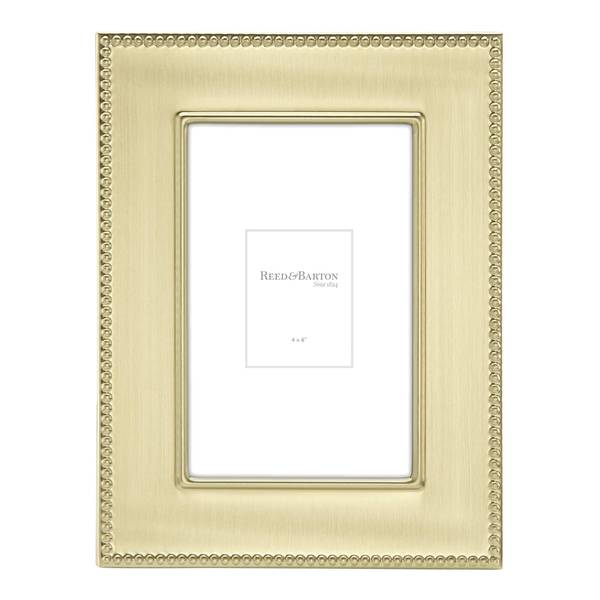 Reed & Barton Lyndon Gold Stainless Steel 4-inch x 6-inch Photo Frame