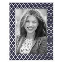 Reed & Barton Kasbah Navy Glass and Metal 5x7 Frame