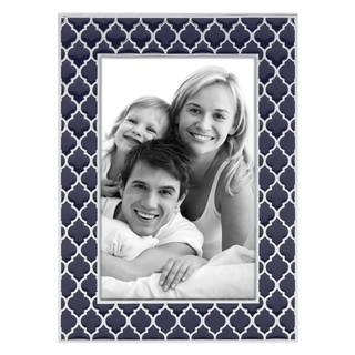Reed & Barton Kasbah Blue Enamelware 4-inch x 6-inch Photo Frame