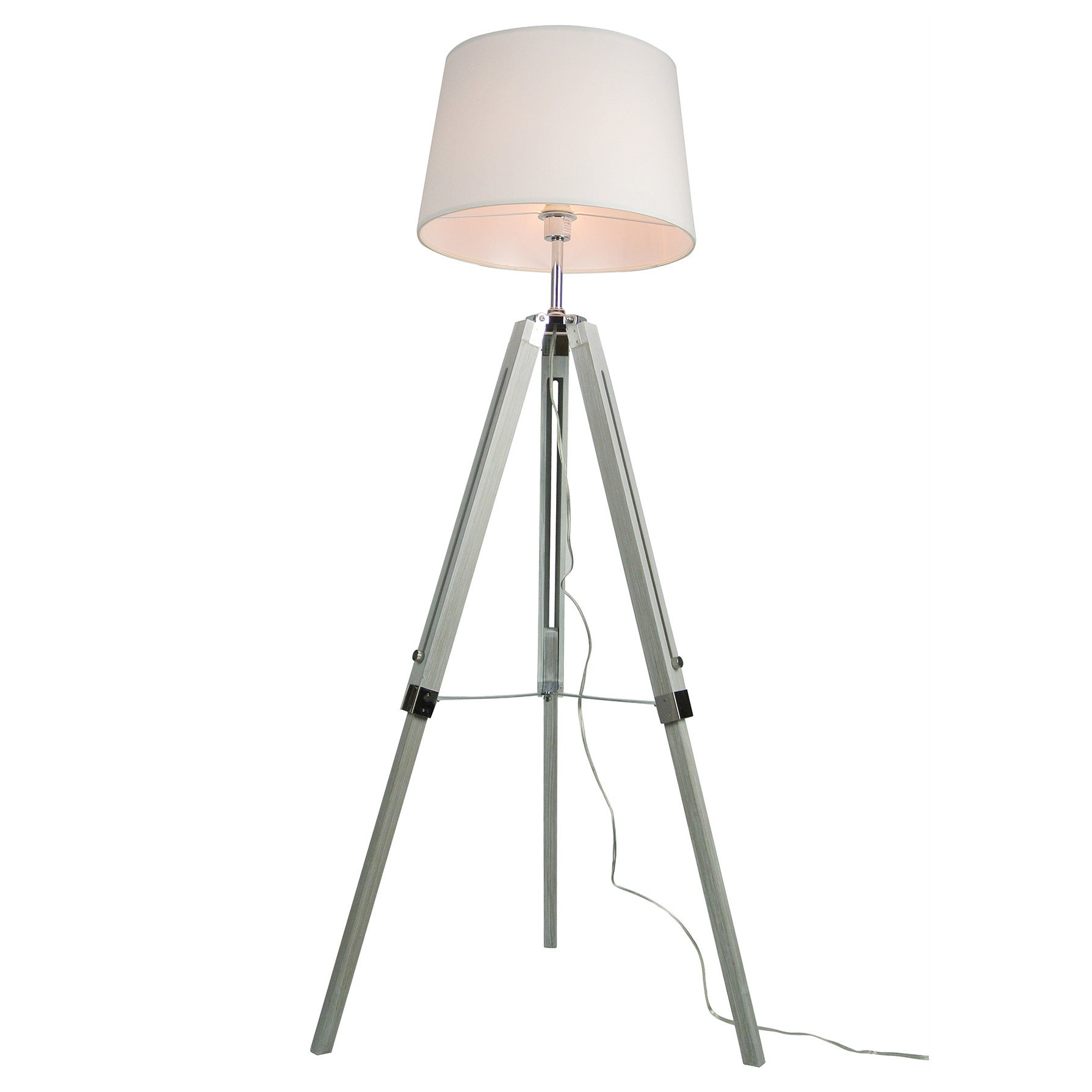 Shop Euro Style Collection Rome 60 Tripod Floor Lamp White Overstock 14356341
