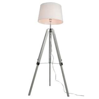 Euro Style Collection Rome 60 Inch Adjustable Height Tripod Floor Lamp