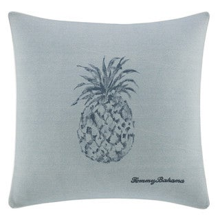 Link to Tommy Bahama Blue Cotton Pineapple Decorative Throw Pillow Similar Items in Decorative Accessories