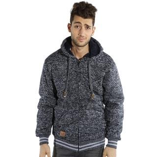 Men's Melange Hooded Jacket