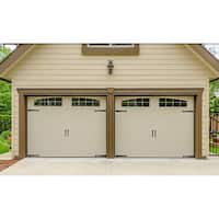 Hinge-It Magnetic Black Decorative Garage Door Accents