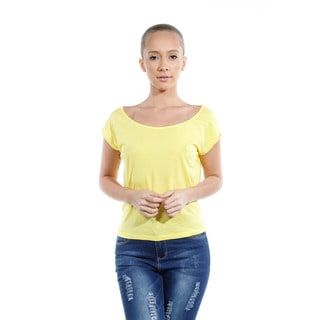 Women's Cotton Open-back Short-sleeve Tops