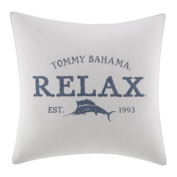 Tommy Bahama 'Relax' Multicolor Cotton Blend 20-inch Decorative Pillow