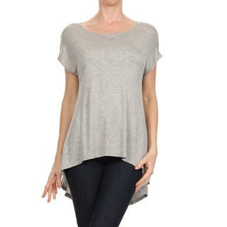 Women's Solid Short Sleeve Tunic|https://ak1.ostkcdn.com/images/products/14356363/P20932134.jpg?impolicy=medium