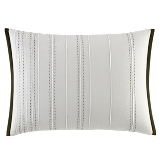 Vera Wang White Cotton 12-inch x 16-inch Dragonfly Wing Breakfast Pillow
