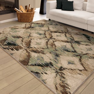 Carolina Weavers Brilliance Collection Called Beige Area Rug (7'10 x 10'10) (As Is Item)