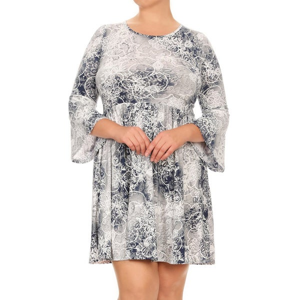 Shop Women\'s Multicolored Plus-size Abstract Tie-dye Dress - On Sale ...