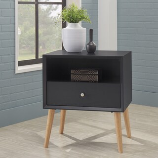 Marin II Danish Modern 1-drawer Storage Side Table (Set of 2)