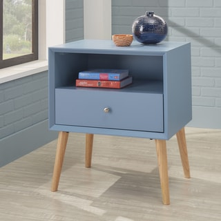 Marin II Danish Modern 1-drawer Storage Side Table ( Set of 2)