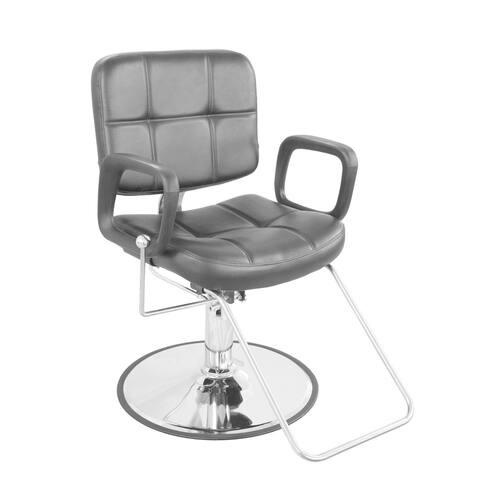 BarberPub Classic Hydraulic Black Hair Salon Chair