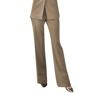 Affinity Apparel Women's Flat-front Pants (More options available)